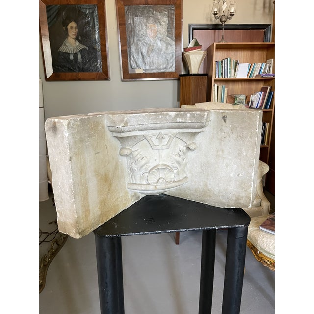 Antique Renaissance Era Marble Cornice Section Poseidon Trident Over Sea Shell For Sale - Image 13 of 13