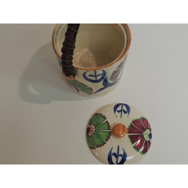 Vintage Floral Hand-Painted Ice Bucket For Sale - Image 4 of 5