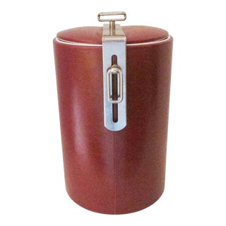 Georges Briard Modern Ice Bucket With Attached Lid For Sale