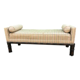Mid 20th Century Chinoiserie Upholstered Bench For Sale