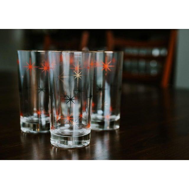 Metal Mid-Century Modern Starburst Drinking Glasses-Set of 4 For Sale - Image 7 of 7
