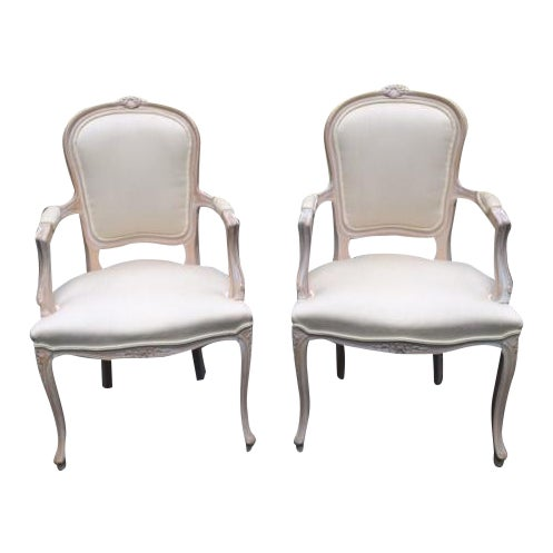 French Provincial Armchairs - A Pair - Image 1 of 6