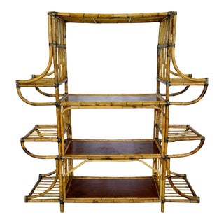 Bamboo Rattan Shelf For Sale