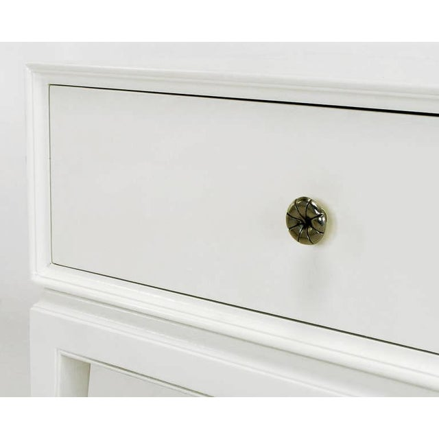 White Tommi Parzinger White Lacquered Nightstand For Sale - Image 8 of 10