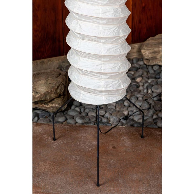 Monumental Akari Model Uf4-31n Floor Lamps by Isamu Noguchi - a Pair For Sale - Image 10 of 13