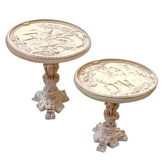 20th Century Javanese Resin Side Coffee Tables - a Pair For Sale