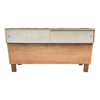 Vintage Mid Century Modern George Nelson Full Bed Headboard For Sale