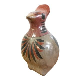 Vintage Mexican Folk Art Ceramic Bird