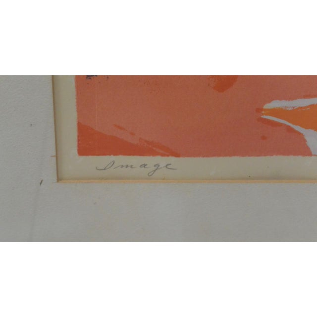 Vintage Abstract Serigraph For Sale - Image 4 of 6