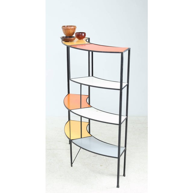 Modern Fredric Weinberg E-Shaped, Coloured Shelf Unit For Sale - Image 3 of 6