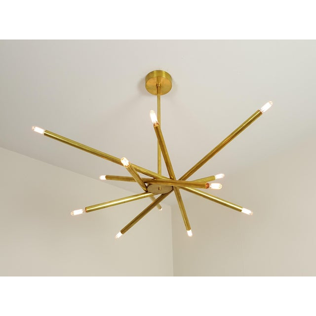 "Model 120 Sculptural Brass ""Nest"" Chandelier by Blueprint Lighting For Sale - Image 9 of 13"
