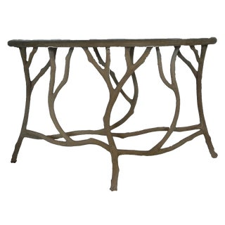 Abstract Currey & Co. Hidcote Console Table For Sale