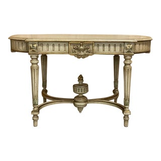 Antique French Louis XVI Painted Center Table For Sale