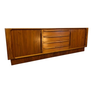 Bernhard Pedersen & Son Sideboard With Tambour Doors and a Finished Back For Sale