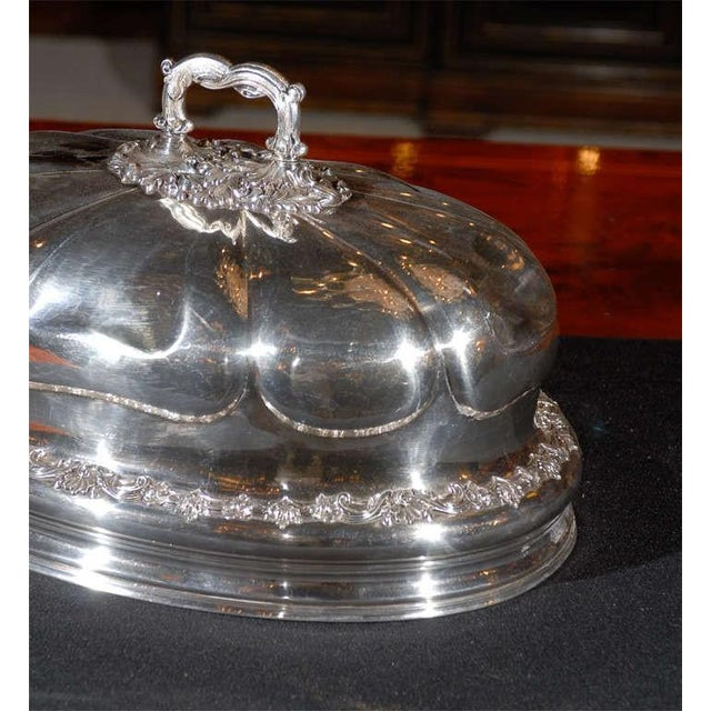 English Traditional Sheffield Platter Cover For Sale - Image 3 of 6