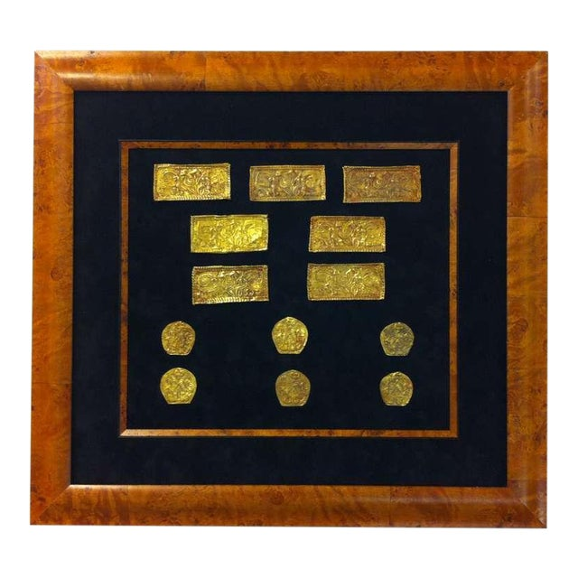 Set of Ordos Culture Gold Plaques For Sale