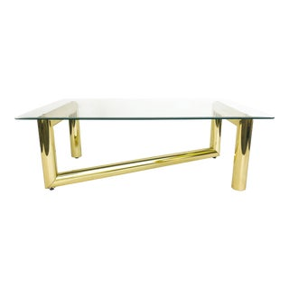 Karl Springer Tubular Brass Z Coffee Table For Sale