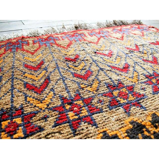Vintage Brown Persian Tribal Rug - 2′8″ × 3′5″ - Image 4 of 6