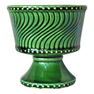 Vintage McCoy Green Cachepot For Sale