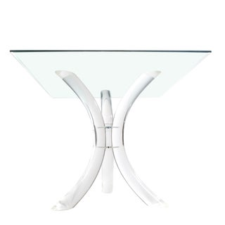 1970s Mid-Century Modern Hill Manufacturing Co Sabre-Leg Lucite Games Table For Sale