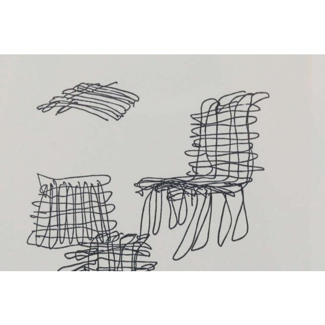 Mid-Century Modern 1980s Vintage Frank Gehry Signed Lithograph For Sale - Image 3 of 5