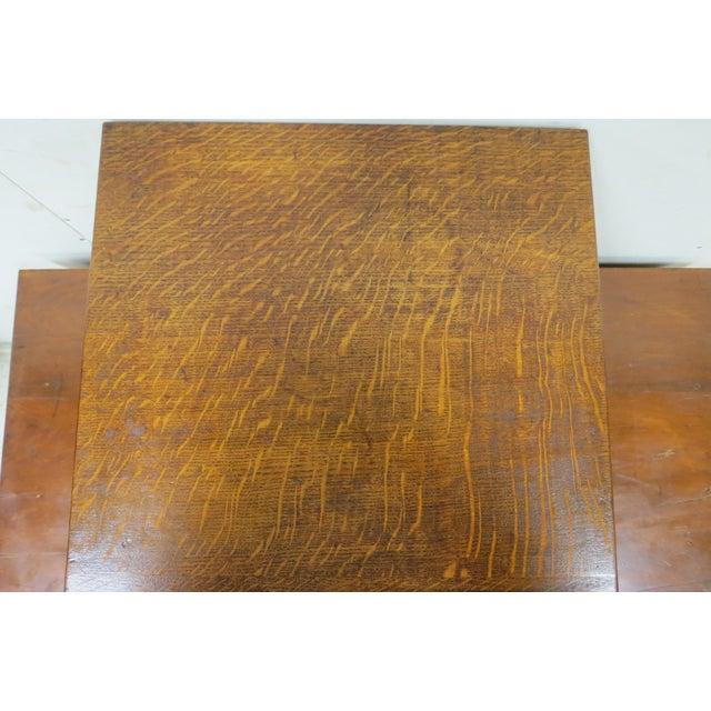 Brown Wood English Tiger Oak 4 Drawer Tabletop Card File For Sale - Image 8 of 10
