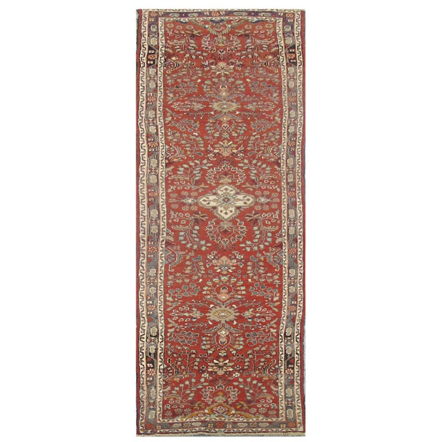 Vintage Persian Hamedan Rug - 2'6'' x 12'8'' For Sale