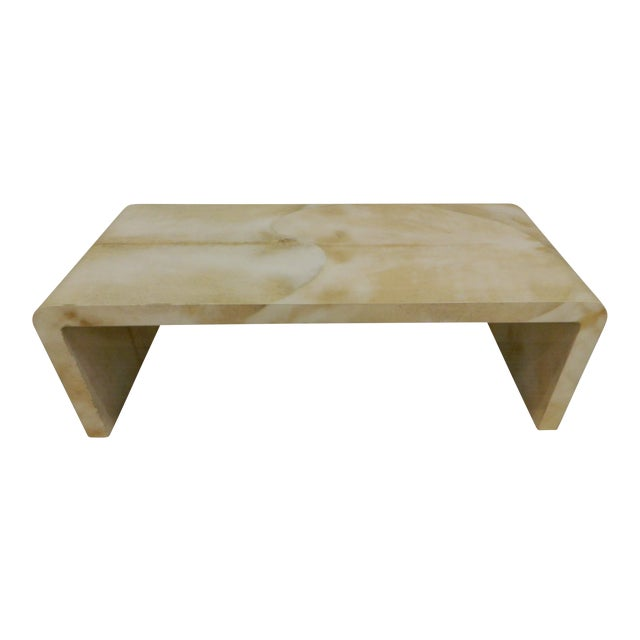 45feafcd775 Jean Michel Frank Style Waterfall Parchment Table For Sale