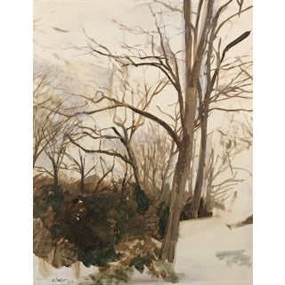 Featured in The 2020 San Francisco Decorator Showcase — Modern 2000 'Untitled (Winter),' Oil on Panel Painting by C. Meng