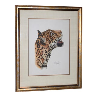 "Rosalia Demonte ""Jaguar"" Original Gouache Painting on Paper C. 1987 For Sale"