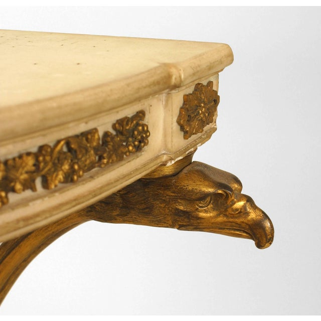 Pair of French Louis XVI Style Bronze Doré Console Tables For Sale - Image 4 of 8