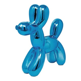 "Interior Illusions Plus Royal Blue Balloon Dog Bank - 12"" Tall For Sale"