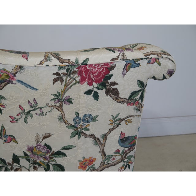 1990s Vintage Hancock & Moore Claw Foot Camelback Sofa For Sale - Image 10 of 13