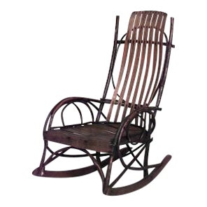 American Country (19th/20th Cent) Amish style willow and slat wood design child's rocker (PRICED EACH) For Sale