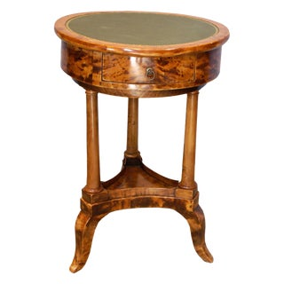 Late 19th Century Swedish Flame Birch Gueridon Table For Sale