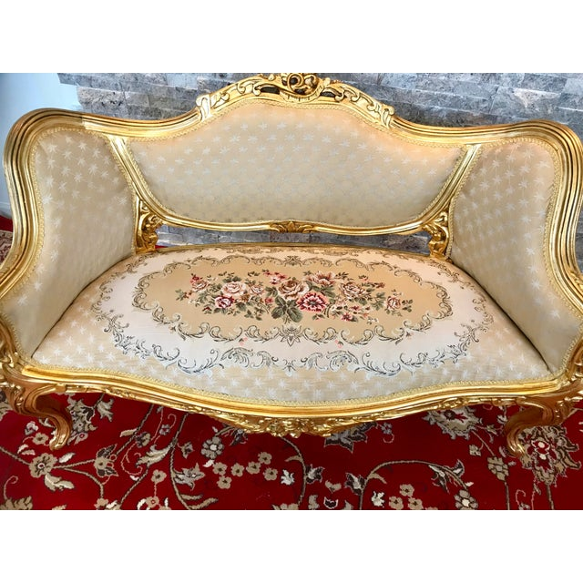 French Modern Louis XV Love Seat For Sale - Image 3 of 7