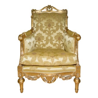 Italian Baroque Golden Chairs For Sale