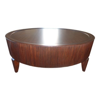 Mid-Century Modern Barbara Barry for Henredon Reeded Cocktail Table For Sale
