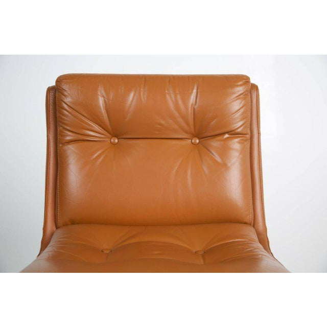 1970s Vintage Raphael French Leather Lounge Chairs- Set of 4 For Sale - Image 11 of 13