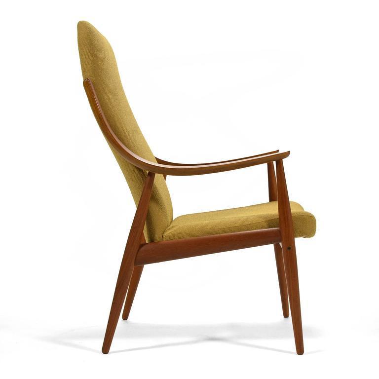 Teak Peter Hvidt U0026 Orla Mølgaard Nielsen High Back Easy Chair For Sale    Image