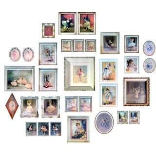 Vintage Ballerina Lithograph Collection- Set of 32