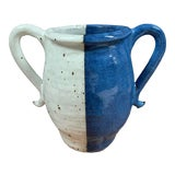 Image of Blue & White Studio Pottery Double Handled Vase For Sale