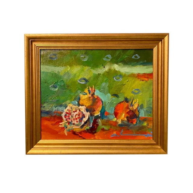 """French Impressionist Painting by Adrien Moroni, """"Fruits de Grenade"""" For Sale - Image 9 of 9"""