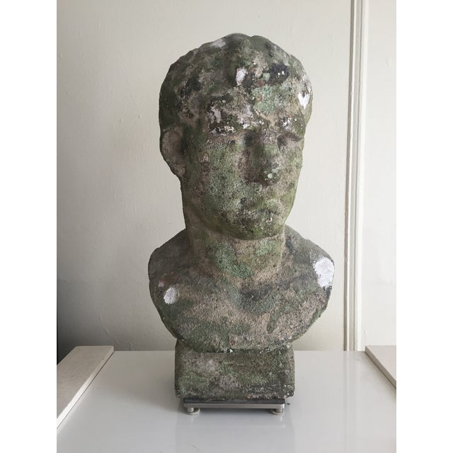 Distressed Stoneware Bust Lamps - Pair - Image 3 of 4