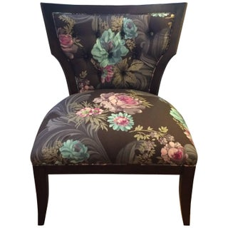 Designer Guild Upholstered Slipper Chair For Sale
