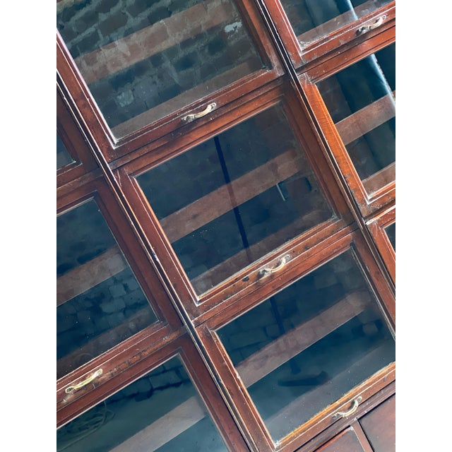 Haberdashery Drapers Shop Display Cabinet Mahogany Loft Style, circa 1940 For Sale - Image 4 of 11