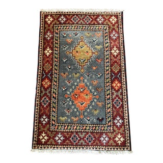 Vintage Wool Accent Rug For Sale