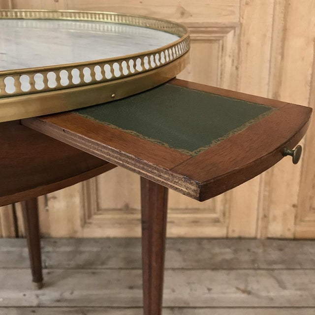 19th Century French Directoire Marble Top Round End Table For Sale - Image 9 of 13