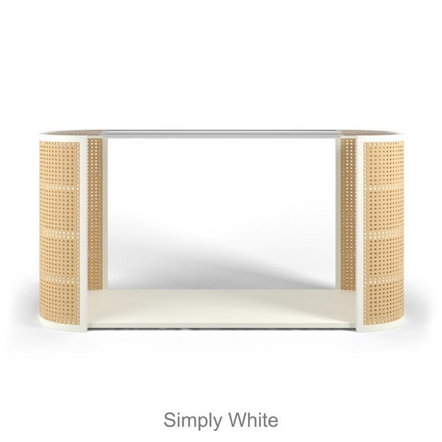 Introducing, our showgirl, Lola in a console table size. Her cane bodice, curves and sleak look is modern yet soft and...