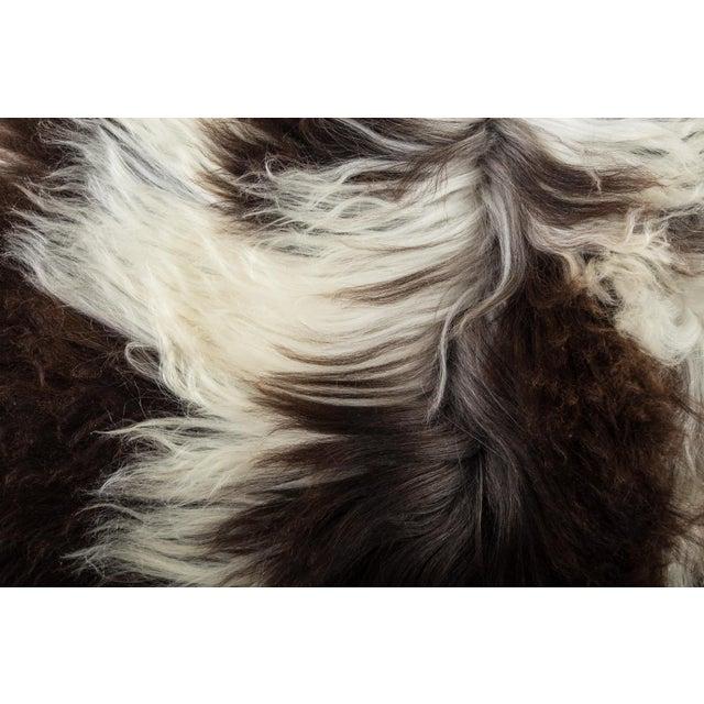 """2010's Modern Natural Sheepskin Pelt Rug - 1'10""""x3'7"""" For Sale - Image 4 of 7"""